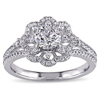 Miadora 14k White Gold 1ct TDW Diamond Engagement Ring (G-H, SI1-SI2)
