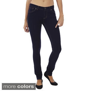Juniors' Skinny Fit French Terry Jeggings