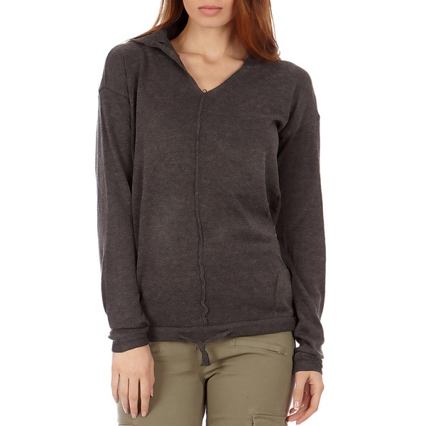 Juniors' Hooded Pullover Cotton Sweater