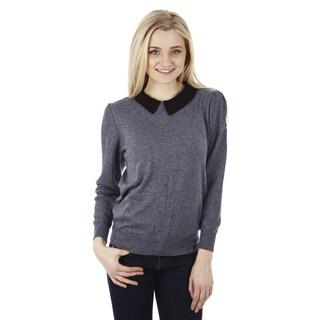 Juniors' Preppy Peter Pan Collar Sweater