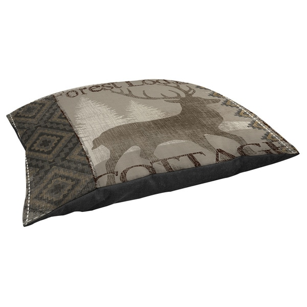 Thumbprintz Winter Lodge Deer Fleece Pet Bed
