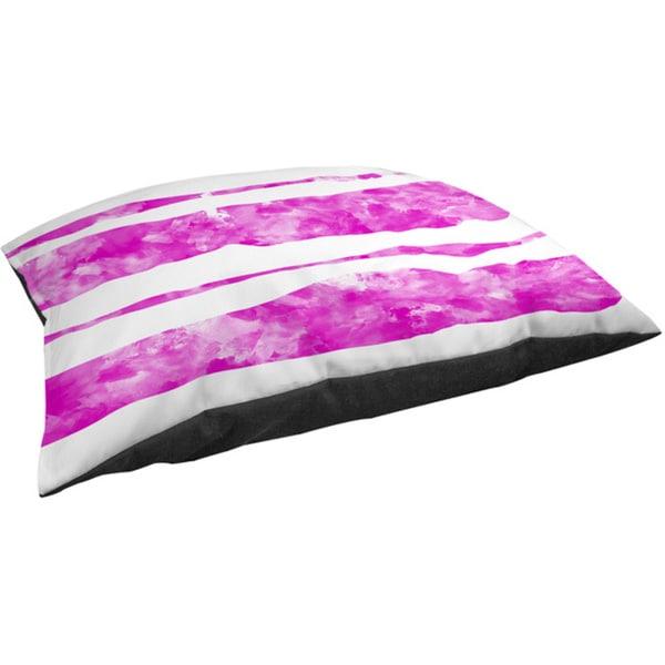 Thumbprintz Summer Florals Pink Stripe Fleece Pet Bed