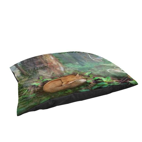 Thumbprintz Conifer Lodge Fox Fleece Pet Bed
