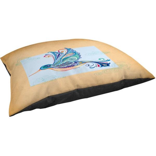 Funky Hummingbird Fleece Pet Bed