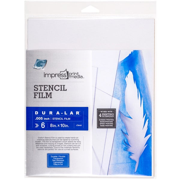 Impress Stencil Films 6/Pkg8inX10in