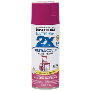 Painter's Touch Ultra Cover Satin Aerosol Paint 12ozMagenta
