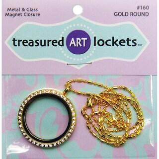 Jewelry Locket 1/PkgGold Round