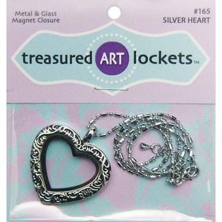 Jewelry Locket 1/PkgSilver Heart