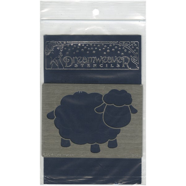 Dreamweaver Metal Stencil 4inX6.75inOpen Sheep
