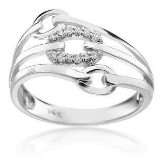 SummerRose 14k White Gold 1/8ct TDW Diamond Fashion Ring (H-I, SI1-SI2)