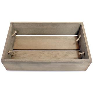 Salvaged Small Wood Crate 18inX11inX5inWeathered Wood