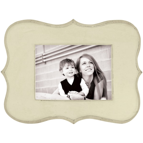 We R Decorative Wooden Frame 12.5inX9in (7inX5in Photo)Cream