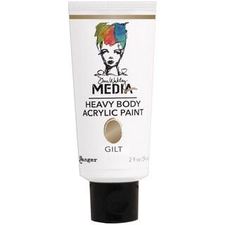 Dina Wakley Media Heavy Body 2oz Metallic Acrylic PaintsGilt
