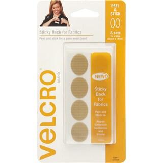 VELCRO(R) Brand STICKY BACK For Fabric Ovals 1inX.75inBeige
