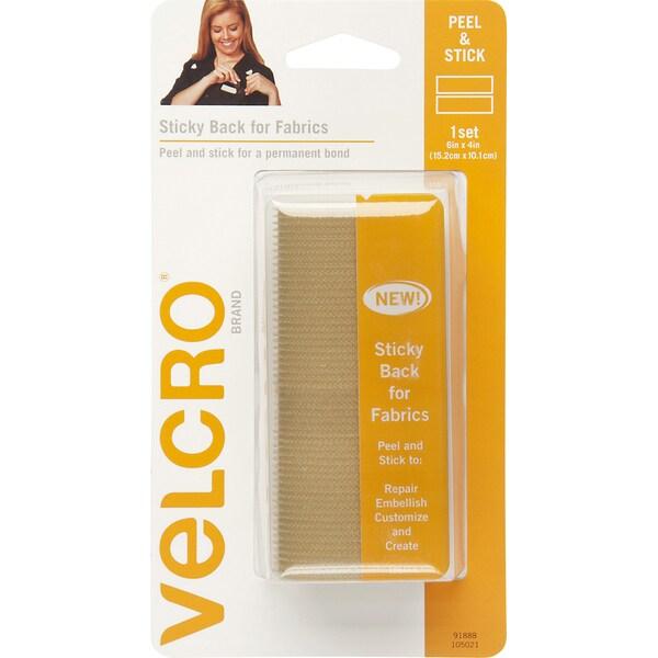 VELCRO(R) Brand STICKY BACK For Fabric Tape 4inX6inBeige