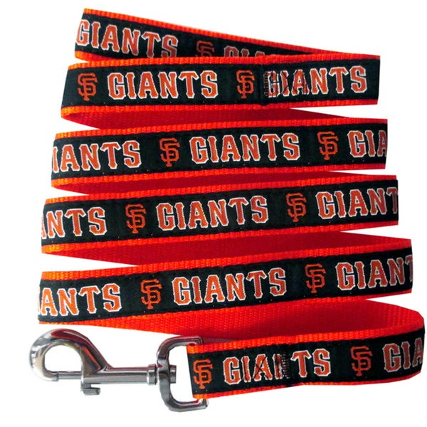 Genuine San Francisco Giants Licensed Pet Collar and Leash Combo Set (2 piece) - For Small to Large Dogs