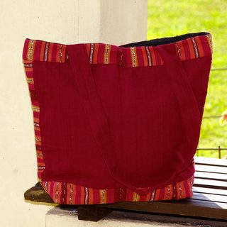 Handcrafted Cotton 'Ruby Maya' Tote Bag (Guatemala)