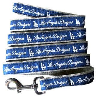 Genuine Los Angeles Dodgers Licensed Pet Collar and Leash Combo Set (2 piece) - For Small to Large Dogs