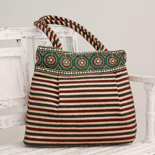 Embellished 'Golden Gujarat Legacy' Shoulder Bag (India)