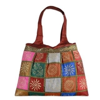 Handcrafted Embellished 'Crimson in Kutch' Tote Handbag (India)