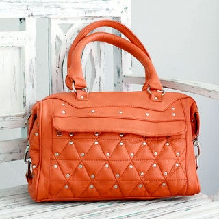 Embellished 'Fabulous Orange' Baguette Handbag (India)