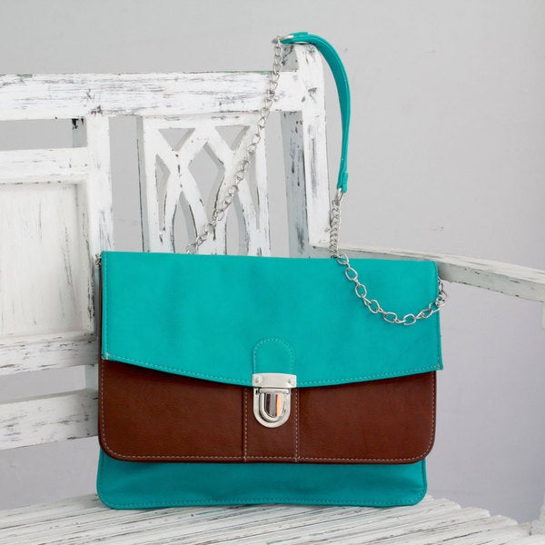 Front-buckle 'Aqua Chic' Shoulder Bag (India)