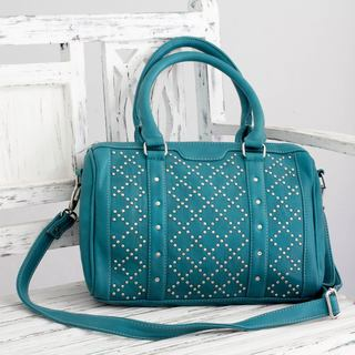 Embellished 'Trendy Teal' Shoulder Bag (India)