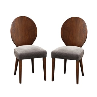 Set of 2 Olivia Brown Solid Wood Dining Chair