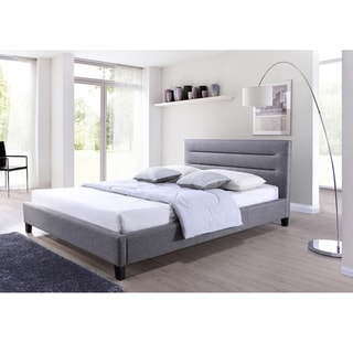 Hillary Grey Fabric Upholstered Platform Bed