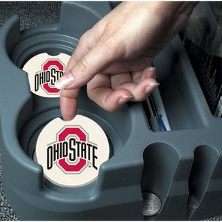 Ohio State Buckeyes Absorbent Stone Car Coaster (Set of 2)