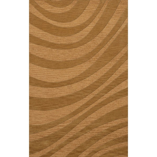 Newport Beach Rectangular Wave Wool Rug (3' x 5')
