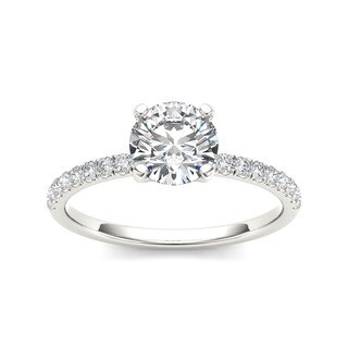 De Couer 14k White Gold 1 1/4ct TDW Diamond Classic Engagement Ring (H-I, I2)