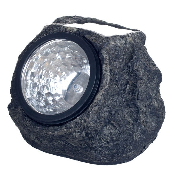 Pure Garden Set of 8 Solar LED Rock Landscaping Lights