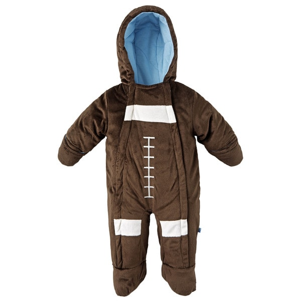 Wippette Baby Boys' Extra Plush Footed and Hooded Snowsuit with Hand Warmers