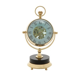 Elegant Brass Nickel Table Clock