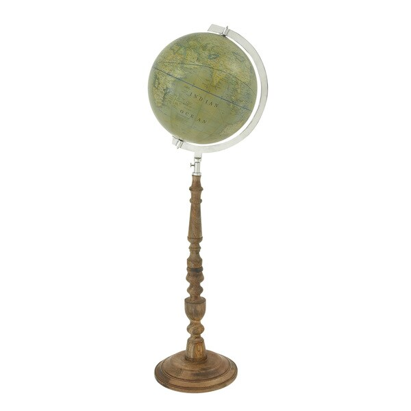 Classy Wood Floor Globe