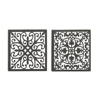Set of 2 Assorted Captivating Metal Wall Decor