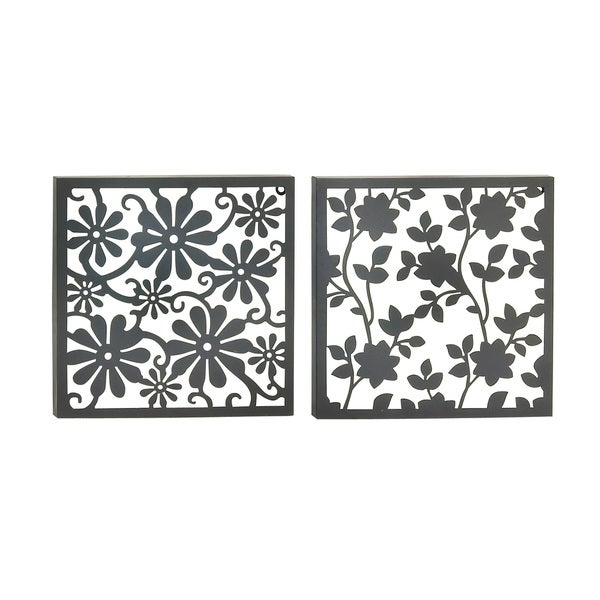 Set of 2 Assorted Appealing Metal Wall Decor