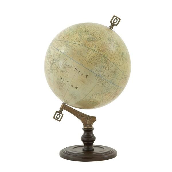 """Wood Metal PVC Globe 14""""W, 23""""H"""