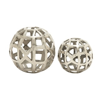 Distinctive Aluminum Orbs Set of 2