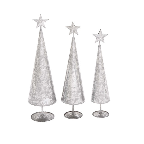 Dazzling Set of 3 Metal Xmas Tree