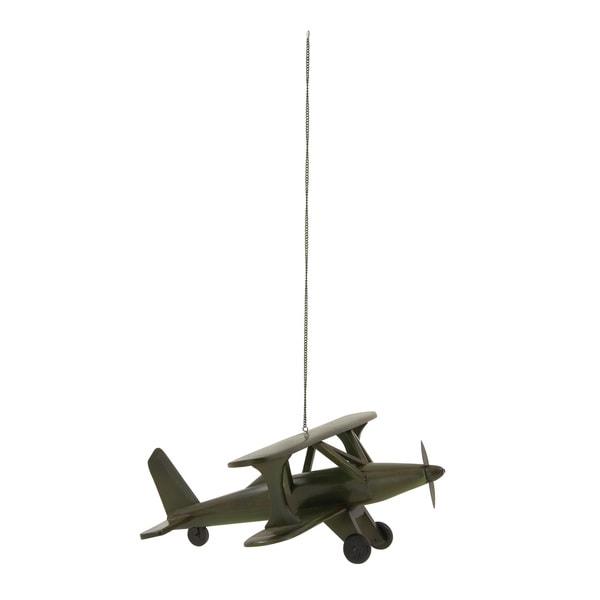 """Striking Wood Bi Plane 20""""W, 8""""H"""