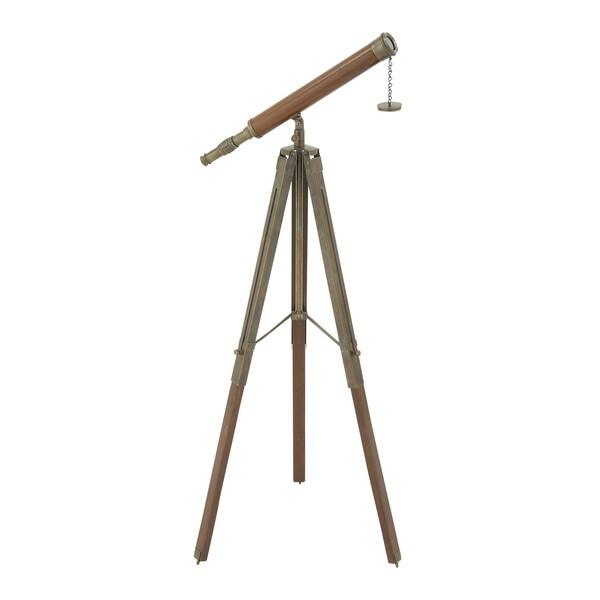 Antique Themed Metal Wood Telescope