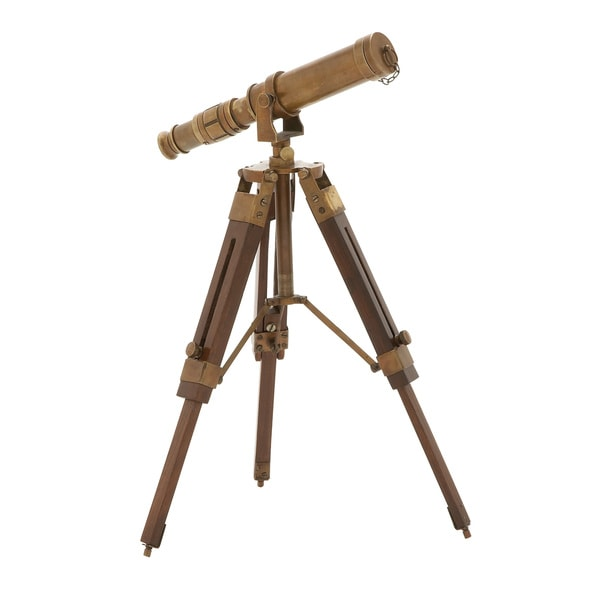 Timeless Brass Wood Telescope