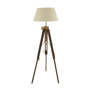 Exclusive Wood Aluminum Floor Tripod Lamp