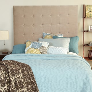 Humble + Haute Stratton Velvet Sand Tall Full Tufted Upholstered Headboard