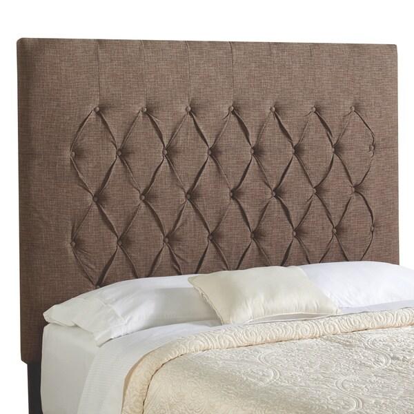 ... Haute Halifax Chocolate Tall Full Diamond Tufted Upholstered Headboard