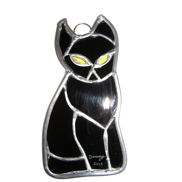 Stained Glass Black Cat 15390016