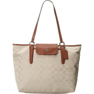 Coach Signature Nylon Ward Tote