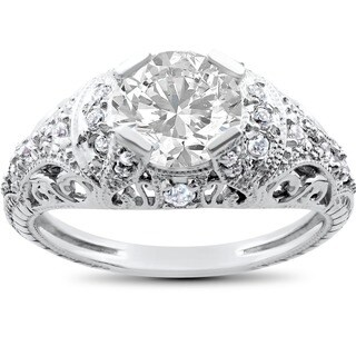14k White Gold 1 1/ 3ct Diamond Diamond Engagement Ring (I-J, I2-I3)